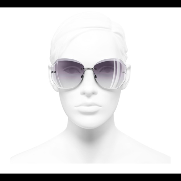 CHANEL Accessories - Chanel sunglasses Silver Gray frame. Gray gradient